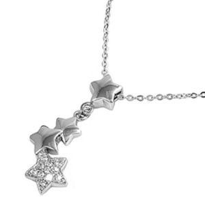 Jewelry - Falling Stars CZ Sterling Silver Necklace